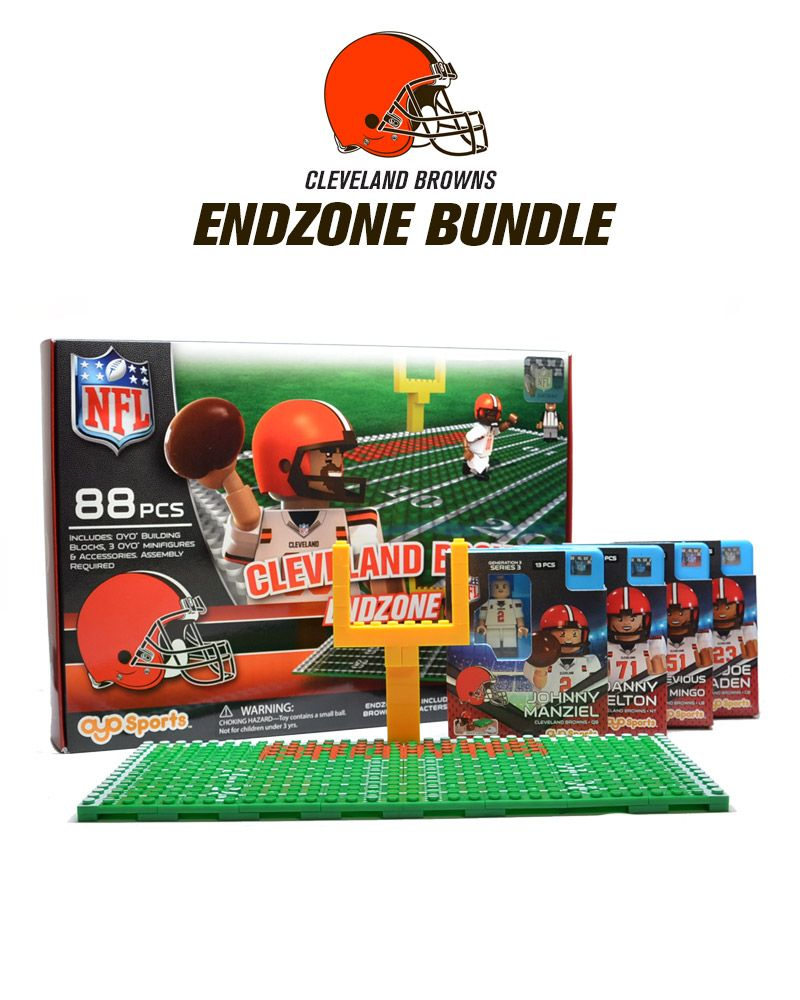 CLEVELAND BROWNS NFL Endzone 106 Piece OYO Mini Building Block Football Set NEW