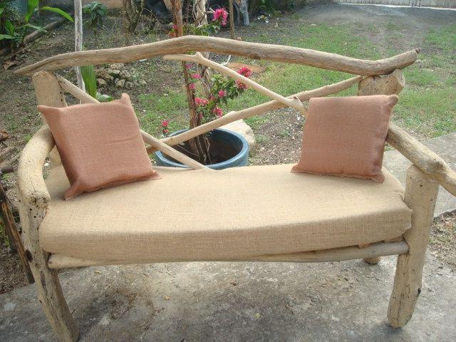 canap en bois flott provenance guadeloupe bois. Black Bedroom Furniture Sets. Home Design Ideas