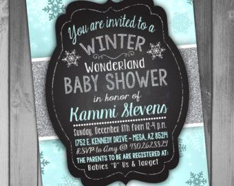 Winter Baby Shower Invitation / Winter Wonderland By DreamyDuck