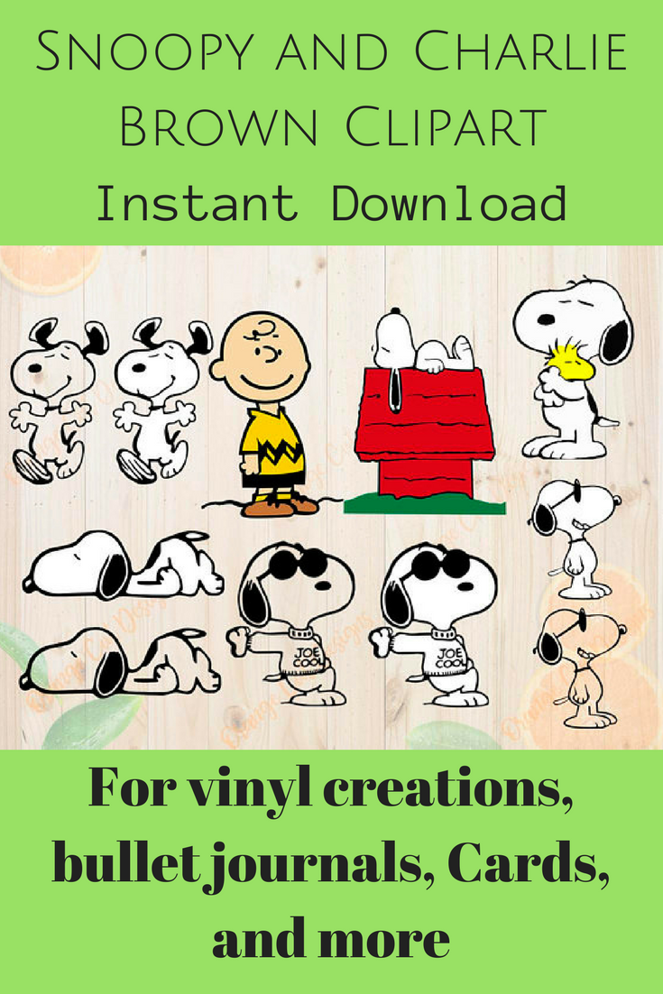 Snoopy And Charlie Brown Clipart For Bullet Journals Cards And Many More Projects Affiliate