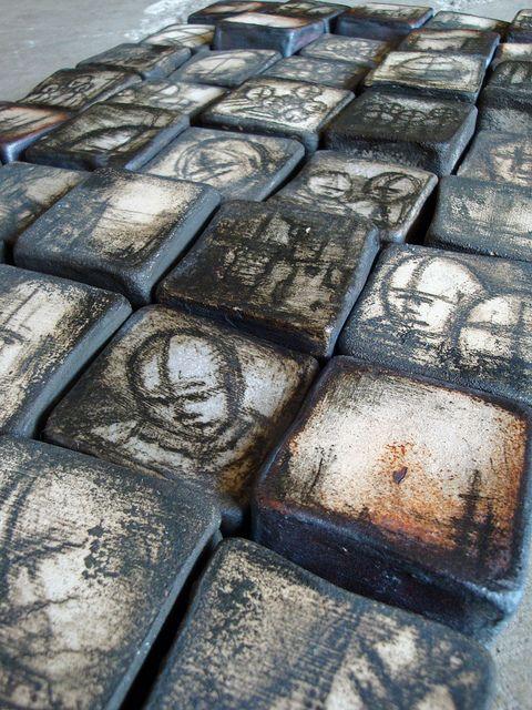 Wall tiles, stoneware. Olia Lamar