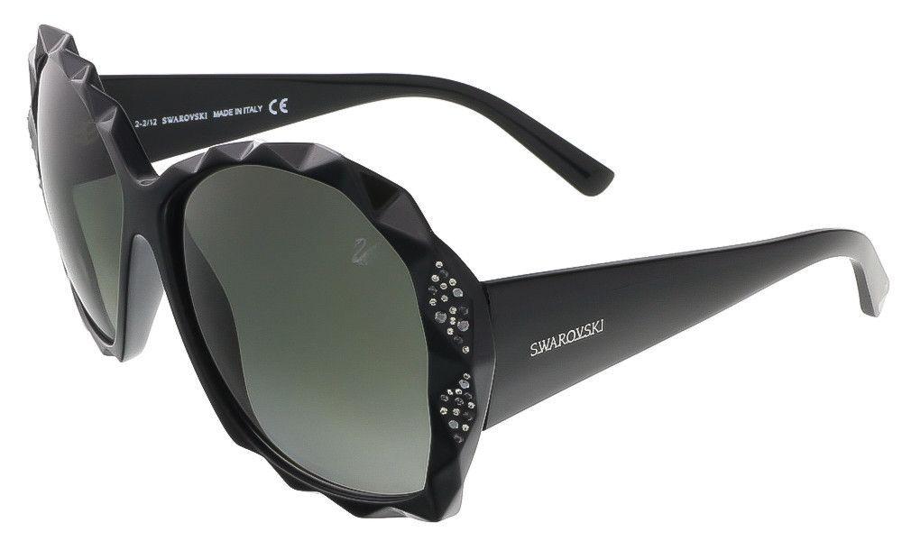 84670ae86d16 Swarovski SK0040 S 01B Shiny Black Oversized sunglasses