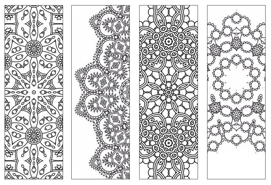 NEW Bookmarks,Printable Intricate Mandala Coloring Pages,Instant - bookmark coloring pages