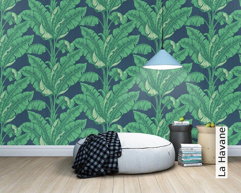 Wohnzimmer Palme ~ La havane palme tapete tapeten und grüne tapete