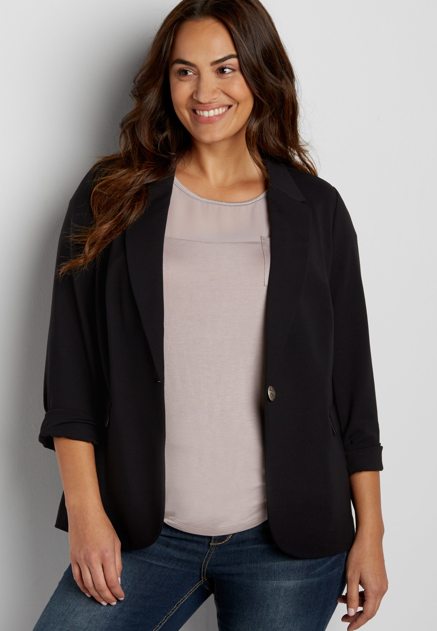 plus size boyfriend blazer (original price, $59.00) available at ...