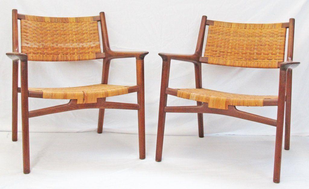 Johannes Hansen Denmark Design H. J. Wegner teak with woven cane backs and seats  sc 1 st  Pinterest & Johannes Hansen Denmark Design H. J. Wegner teak with woven cane ...