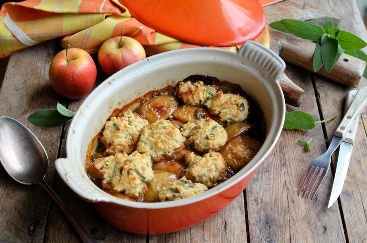 awesome Sausage & Apple Casserole with Herb Crusted Dumplings...