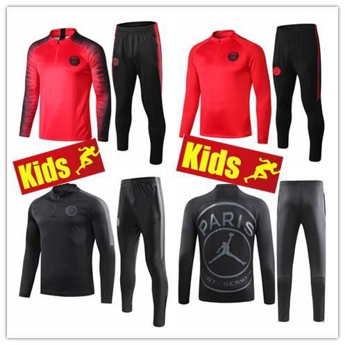 a4e681ba71e13 KIDS 2018 19 new psg jerseys tracksuit KIDS 18 19 Paris Jordam ...