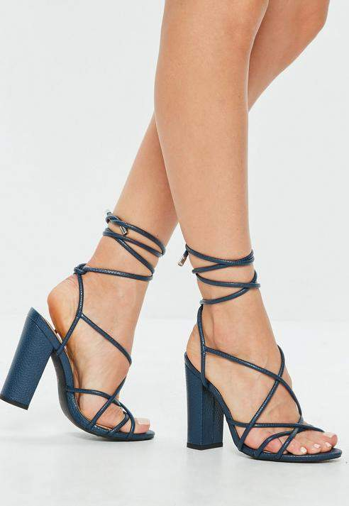 ed41491f6a50 Blue Multi Strap Block Heel Sandal  ad  newarrivals  shoes  shoesaddiction   heels. Missguided ...