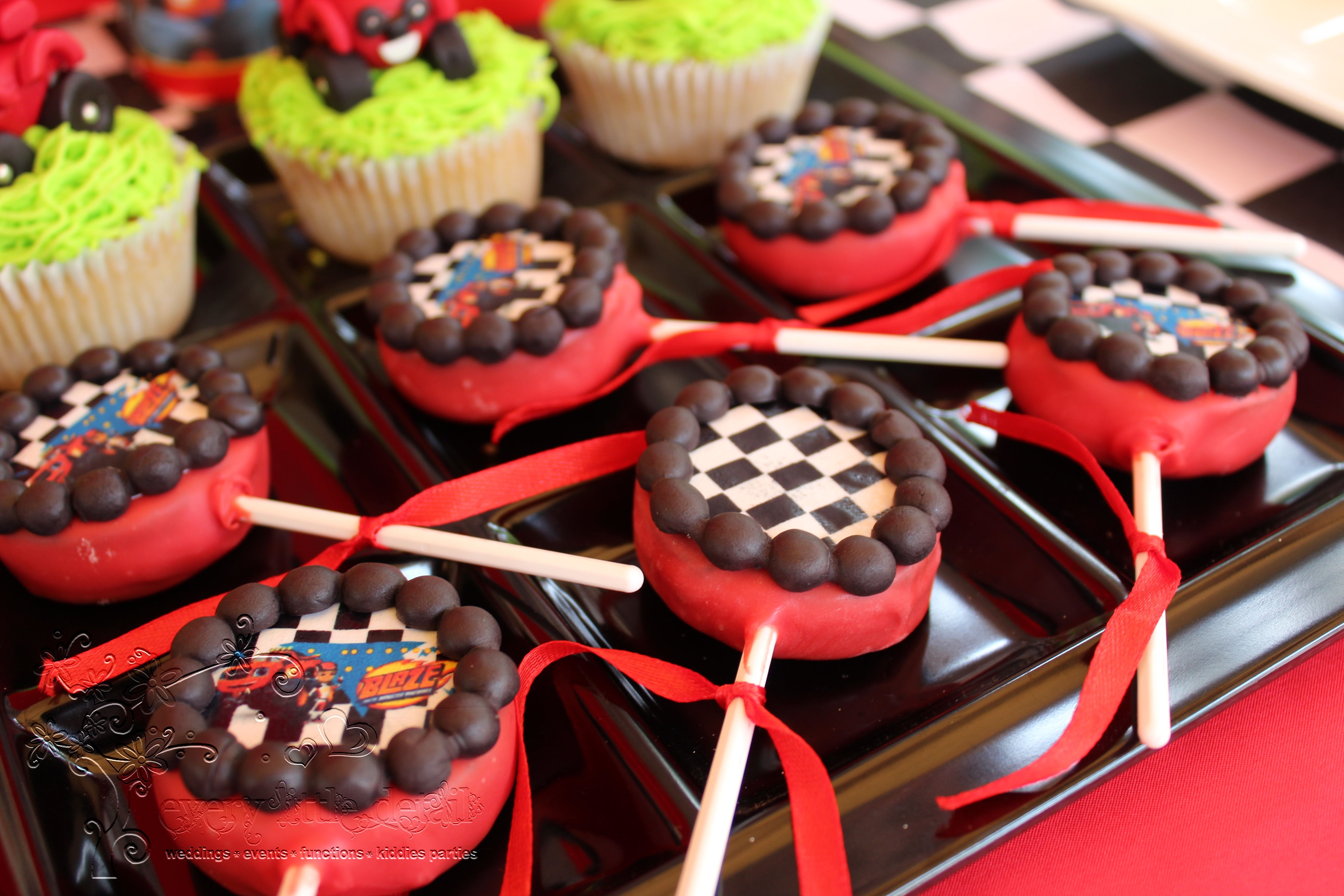 Blaze And The Monster Machine Cake Pops