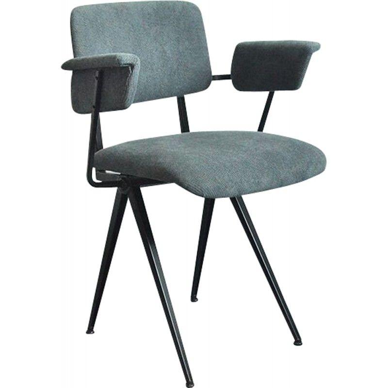 Chaise De Bureau Au Style Industriel Grise Pays Bas 1950