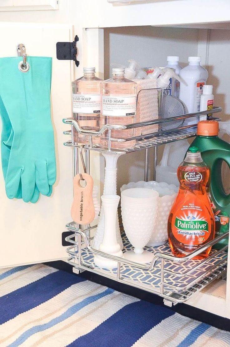 18 Gedankenblasen unter der Kitchen Sink Organisation Hacks #organizekitchen