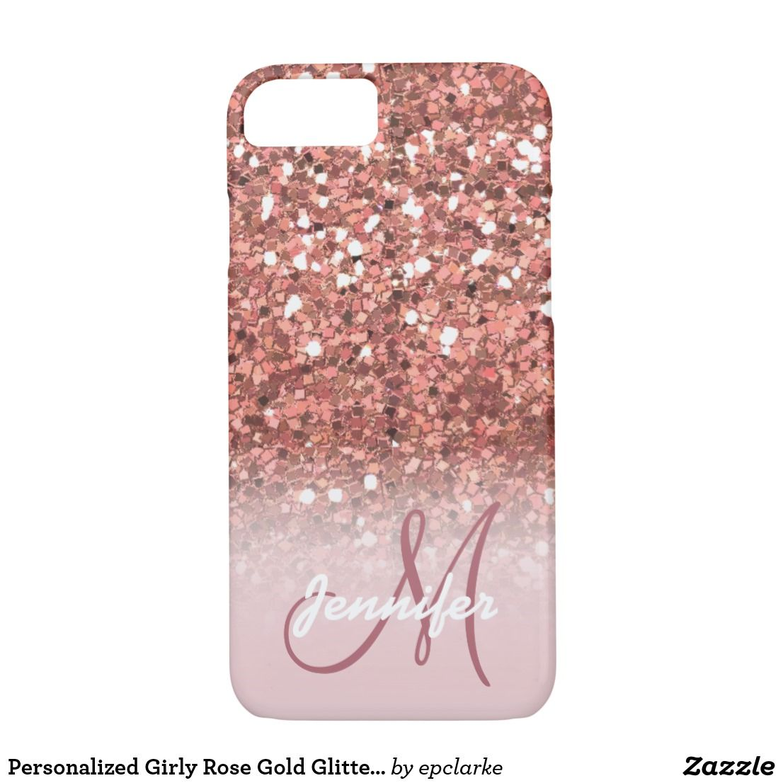 personalised iphone 8 case rose gold