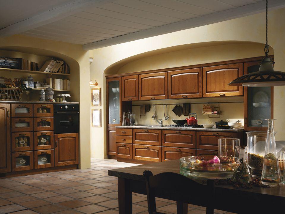 Cucine classiche Scavolini - composizione ad angolo   cucine ...