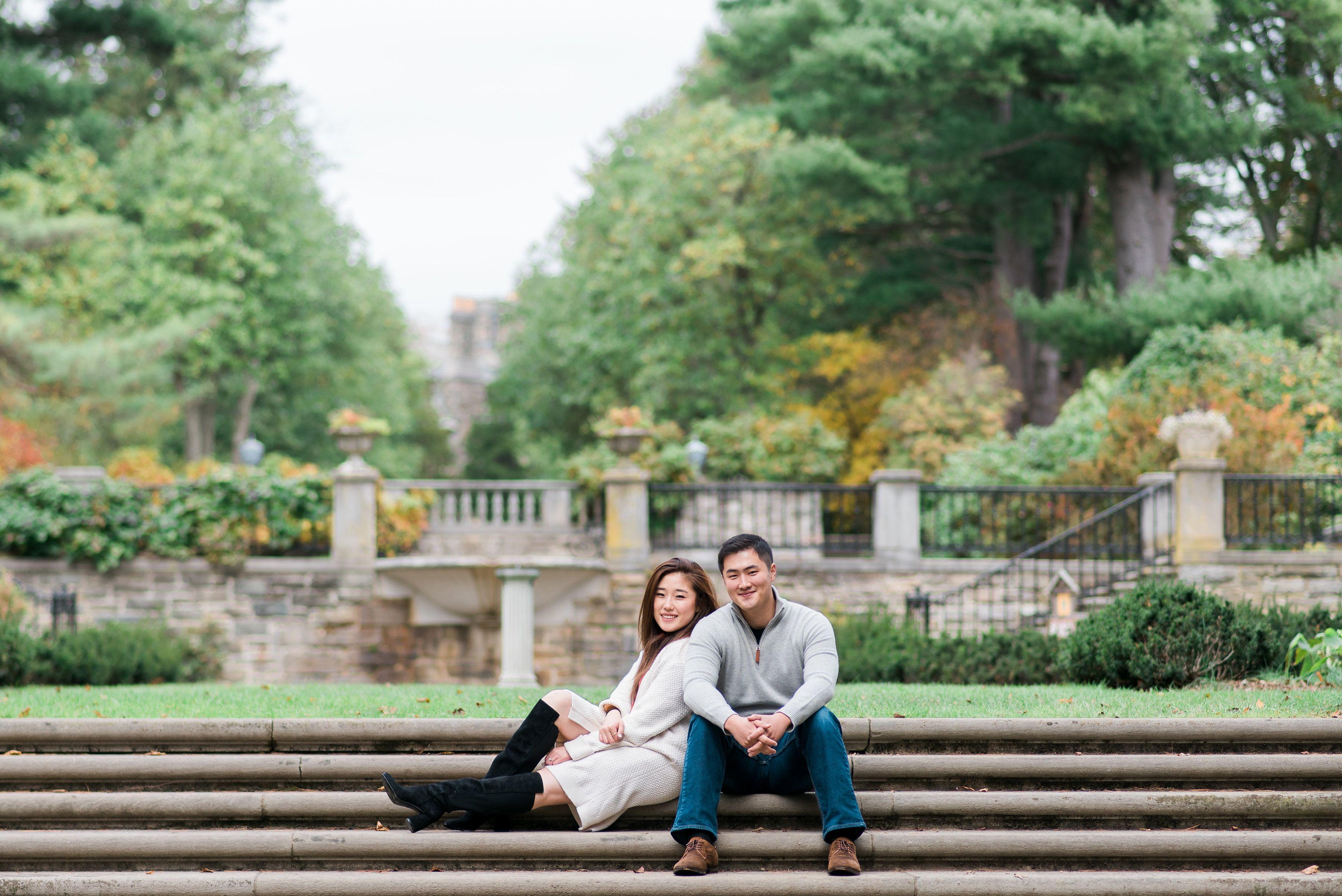 NJ Botanical Gardens fall Engagement photos Ringwood