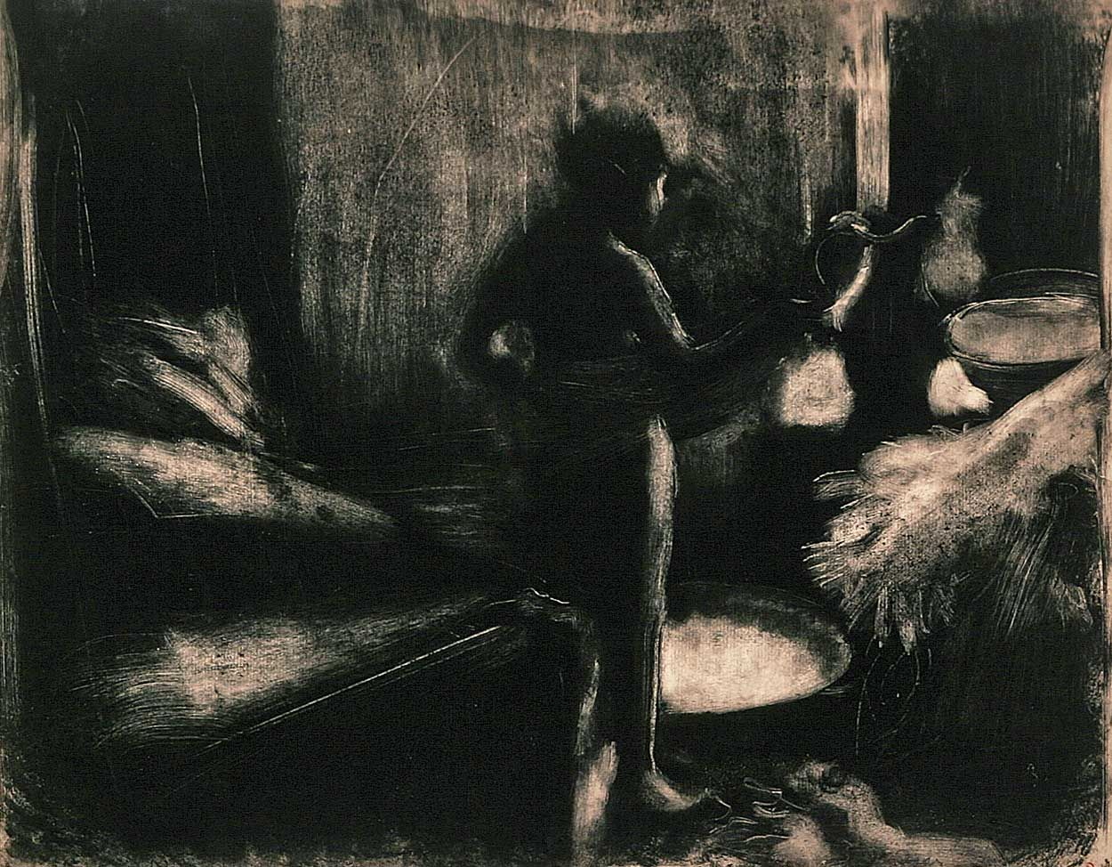 Edgar Degas (1834–1917) The Tub, ca. 1876–1877 Monotype, 16-1/2 x ...