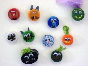 Bottle Top Magnets--fun for kids!