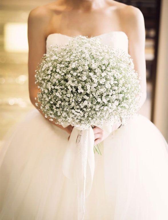 27 Baby S Breath Wedding Ideas White Wedding Bouquets Wedding