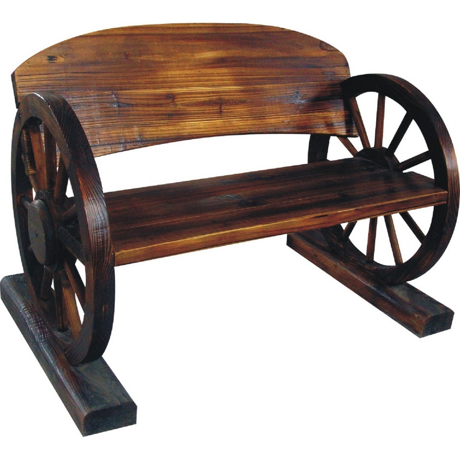 Wagon Wheel Garden Bench | The Range | £50