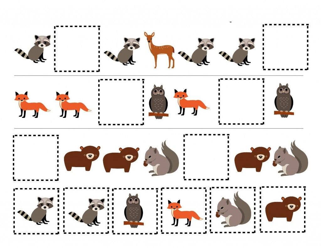 Forest Animals Pattern Exercise