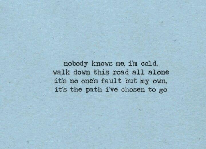 Nobody Knows Me Other Stuff Quotes Lyric Quotes Lyrics