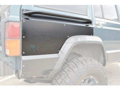 Rusty S Side Guards Xj Rear Upper Quarter Panel Guards Quarter Panel Jeep Xj Sides