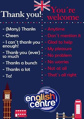 Hoy Os Mostramos Diferentes Formas De Decir Gracias Y De Nada En Inglés Clasedesinonimos Inglesenhuercalovera Thankful Word Of The Day Sayings