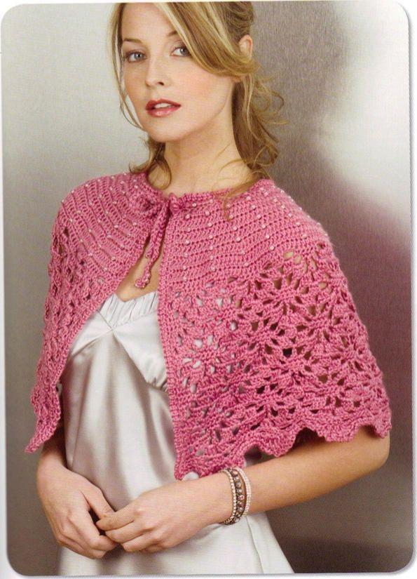 Crochet Capelet Pattern Crochet Lace Capelet Pattern Evening
