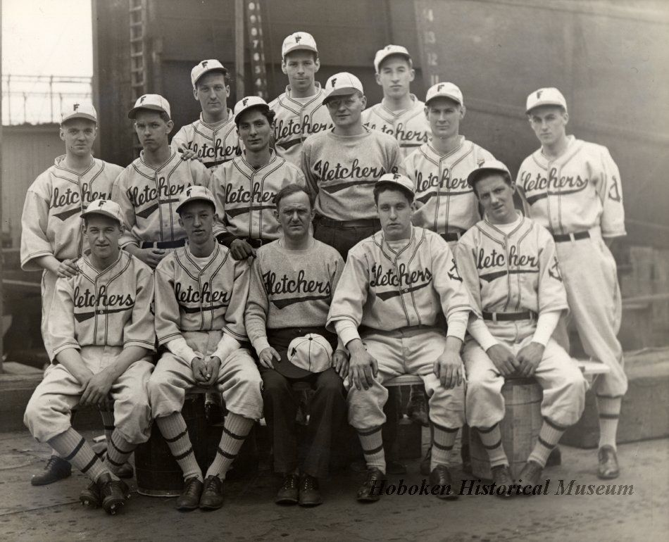 Photograph From The 1920s Of An Employee Baseball Team For W A Fletcher Company Shipyard They Ar Cleveland Indians Baseball Baseball Uniforms Baseball Team