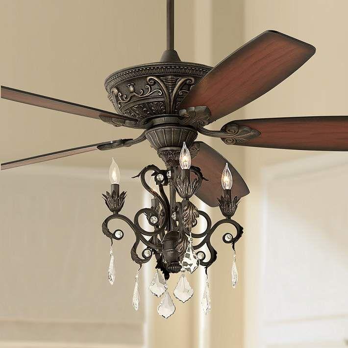 Bronze Chandelier Led Ceiling Fan