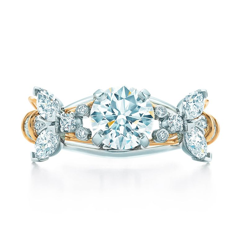 948ac8d30c94f Schlumberger® Two Bees Engagement Ring in Platinum & 18k Gold ...