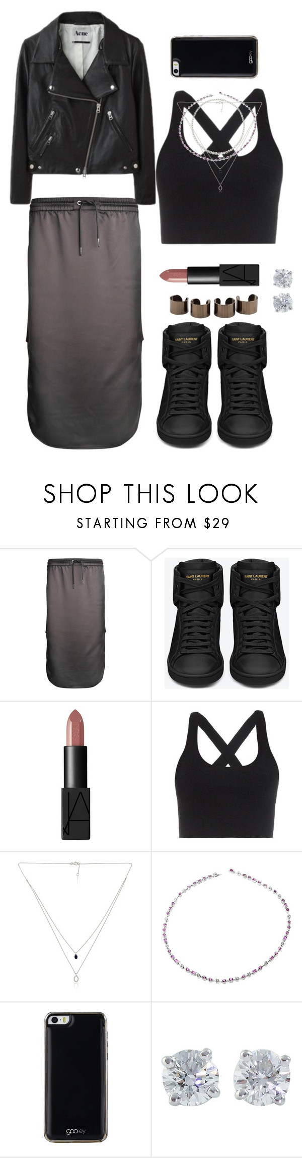 """""""Untitled #545"""" by heybrub ❤ liked on Polyvore featuring T By Alexander Wang, Yves Saint Laurent, NARS Cosmetics, Maison Margiela, Cartier, Gooey, Tiffany & Co., women's clothing, women's fashion and women"""