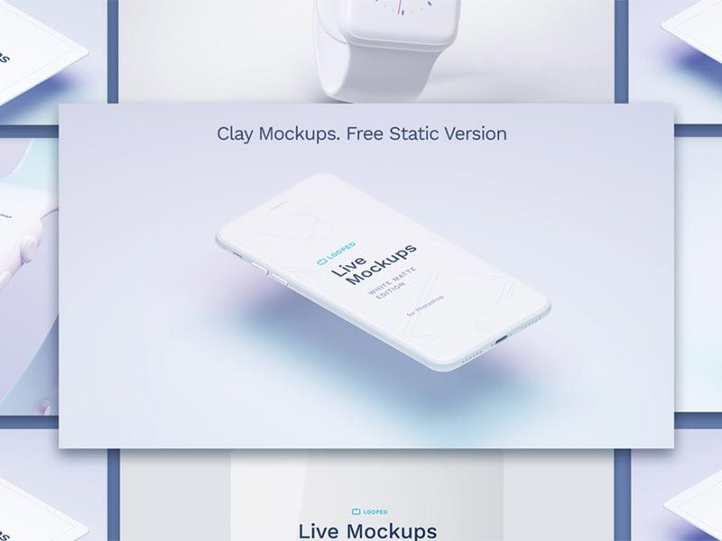 Download Apple Devices White Clay Mockups Available Free For Sketch And Photoshop Including Apple Watch Iphone Macbook Mockup Design Freebie Graphic Design Freebies