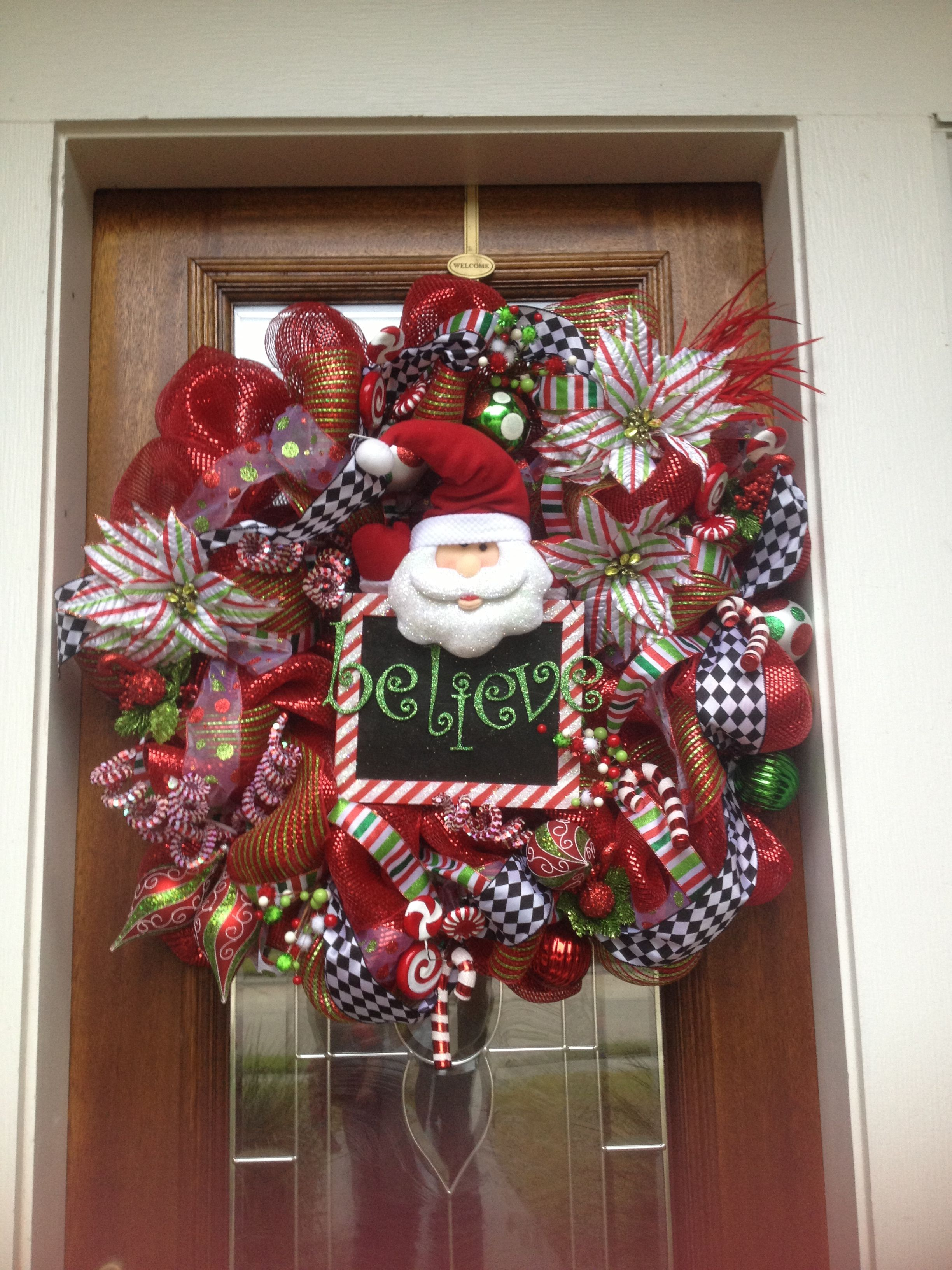 DIY mesh Christmas wreath Christmas wreaths, Xmas