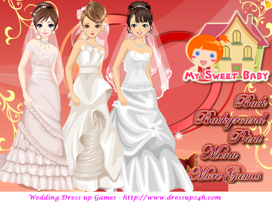 Love Triple Brides Wedding Dress Up Games Brides Wedding Dress Bride Wedding Dresses