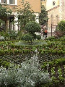 Organic farming in a city center. Puutarha Udinen vanhassa kaupungissa.