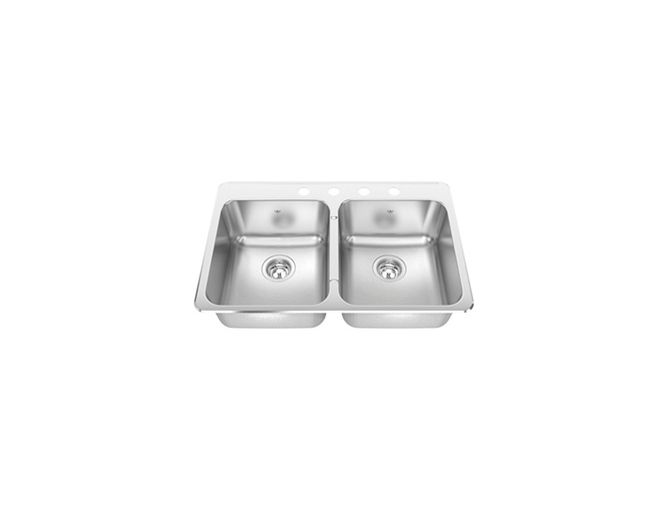 CDLA2031/8S Steel Queen double bowl sink - Kindred | Kitchen ...