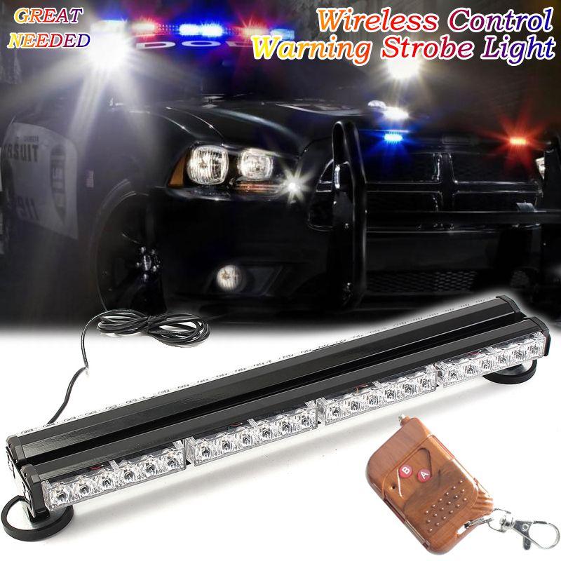 24 Wireless Control Emergency Vehicle Strobe Lights Forklift Warning Led Light 12v 24v Pickup Trucks Roof Signal Police Lamp