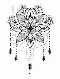 Tatouage Rose Mandala Inspiration Tattoo Pinterest Tatuajes
