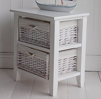 Country Cottage Style Shabby Chic Bedroom Furniture From The White Cottage A  Drawer Basket