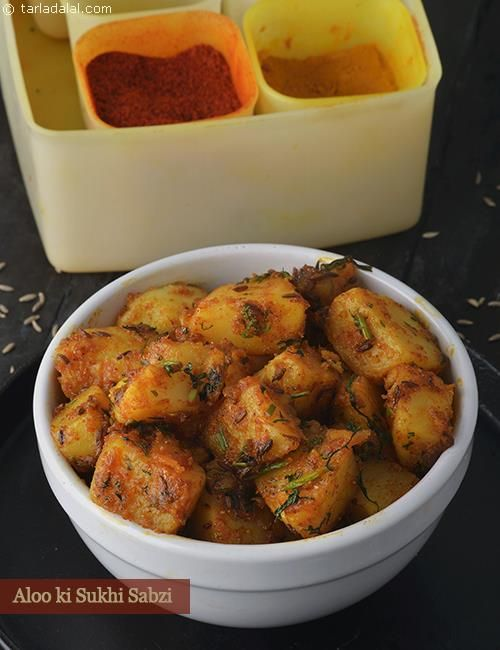 Aloo Ki Sukhi Sabzi Recipe Food Recipes Subzi Recipe Aloo