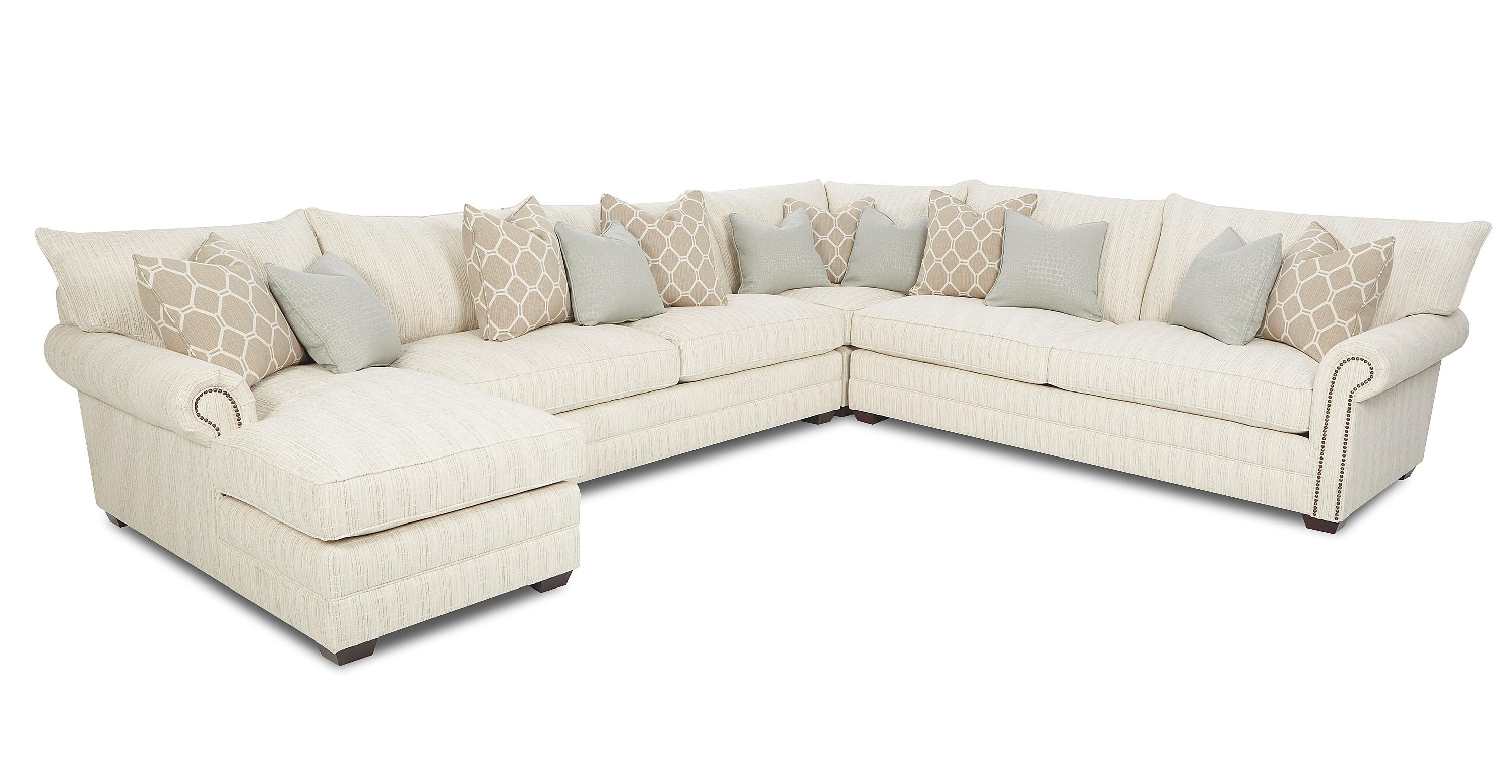 Traditional Sectional Sofa With Nailhead Trim And Chaise Lounge Sectional Sofa Grey Sectional Sofa Sectional
