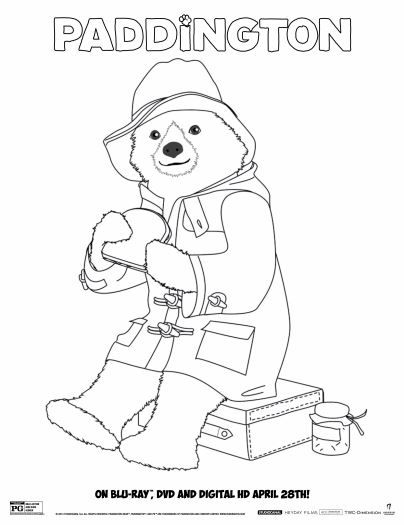 8 Free Paddington Bear Printables Bear Coloring Pages Paddington Bear Coloring Pages