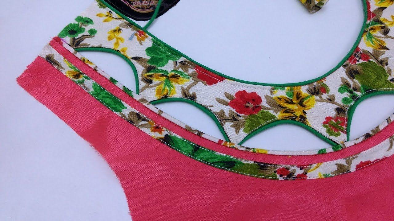 567de549c3f772 Piping Dori Hole Back Neck Design #Cutting And Stitching - YouTube ...