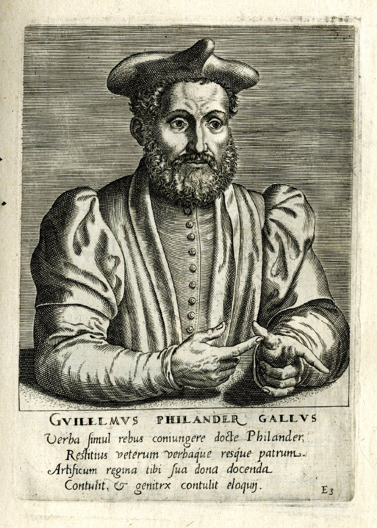 Cuadr Portrait Of Guillaume Philandrier Bust One Quarter To The Right