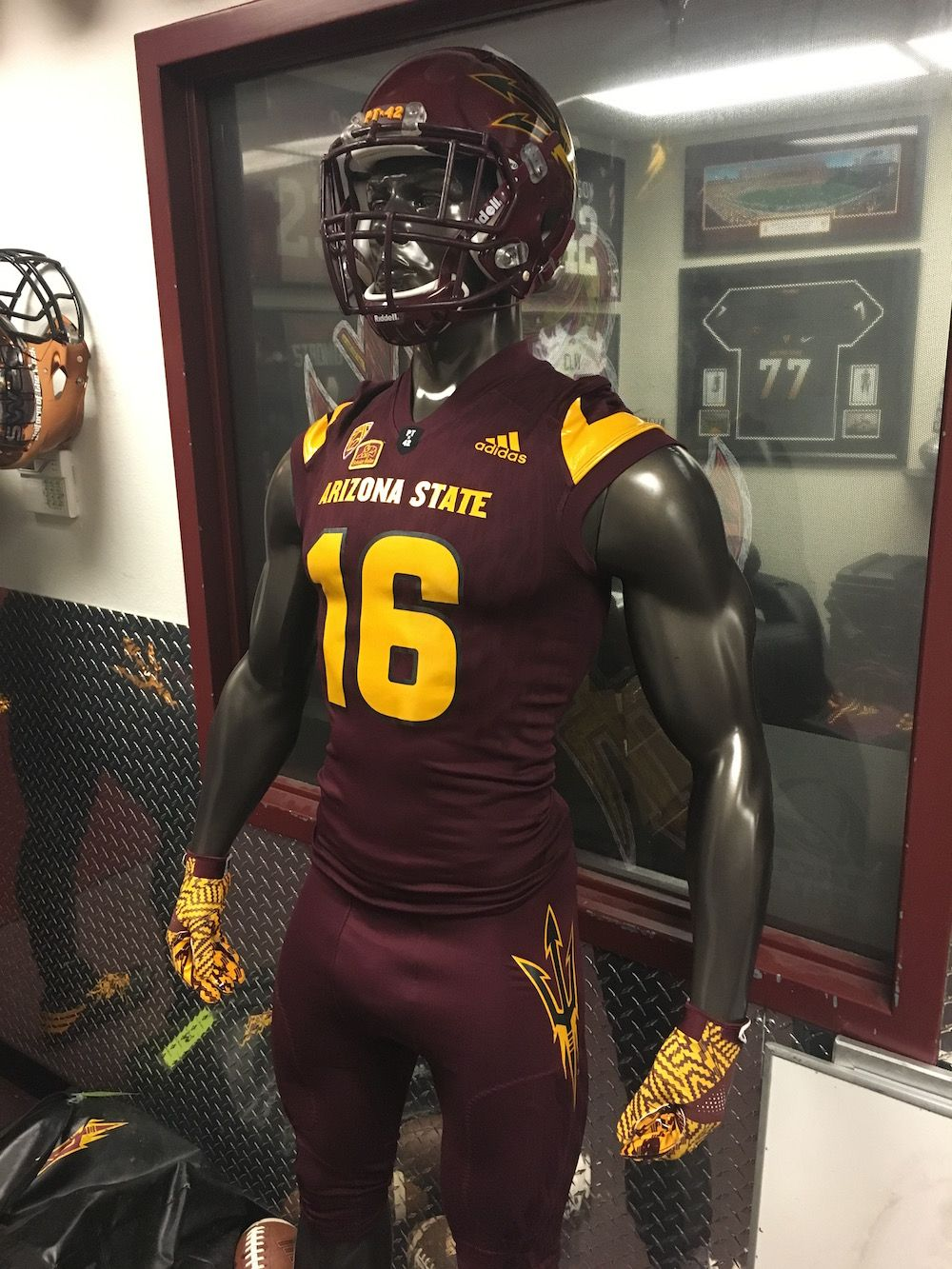 Adidas 2016 Maroon Monsoon Battle Gear Asu Football College