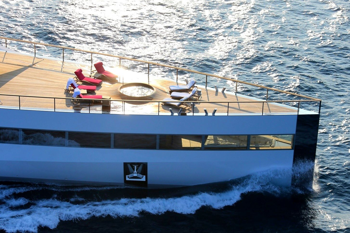 Steve Jobs Yacht Venus Bow Detail With View Of Interior Nook