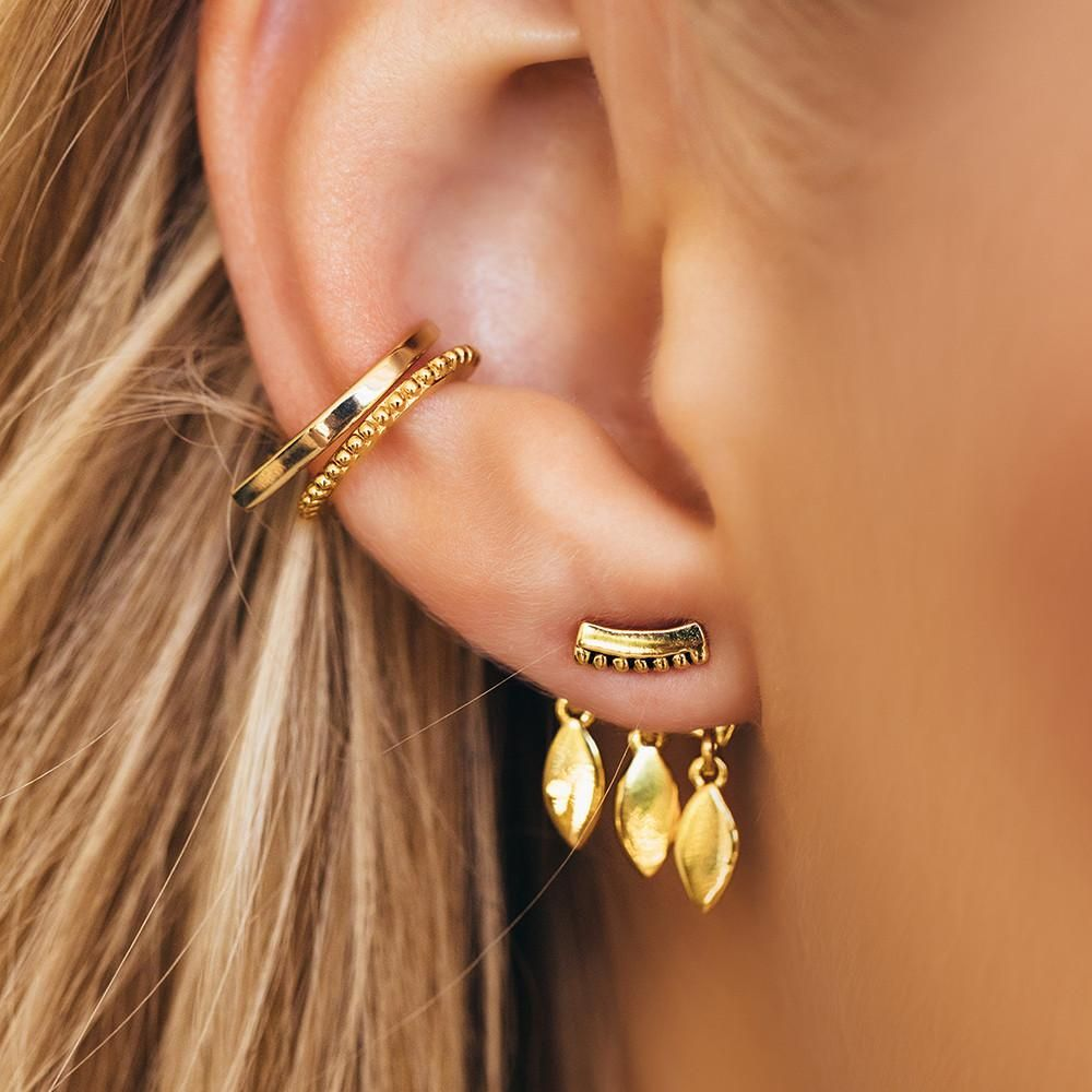Marquise dangle studs gold in bijoux old and new
