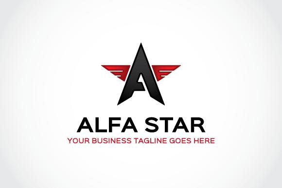 Alfa Star Logo Template | Logos, Templates and Creative