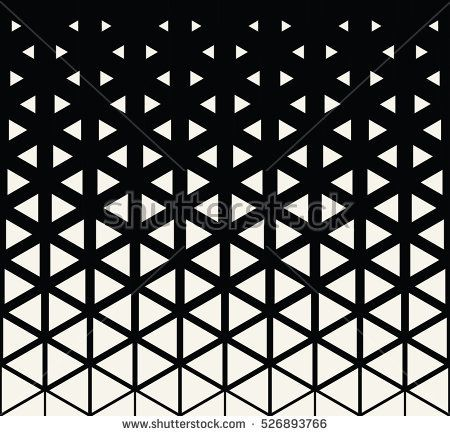 Abstract Geometric Black And White Graphic Design Print Halftone